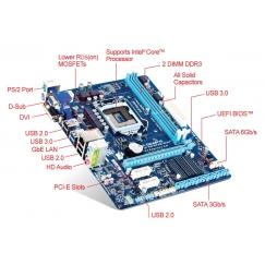 Gigabyte Motherboard GA-B75M-D2V