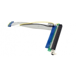 PCI-E 1X to 16X Riser Extender Cable With Molex Power