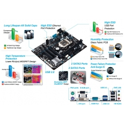 Gigabyte Motherboard GA-H81M-S2PV