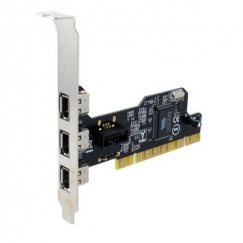 SEDNA PCI 3 + 1 Port 1394A (Firewire) Adapter Card SE-PCI-1394-3E1I-VT-6306