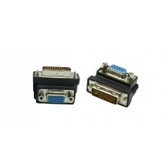 DVI to VGA 90° Angled Converter