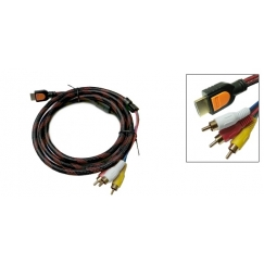 HDMI to 3 RCA RGB AV Cable