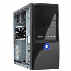 Hero 30 Black Mid Tower Computer Case 500W